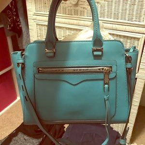 Rebecca Minkoff Teal-Turquoise Leather Tote